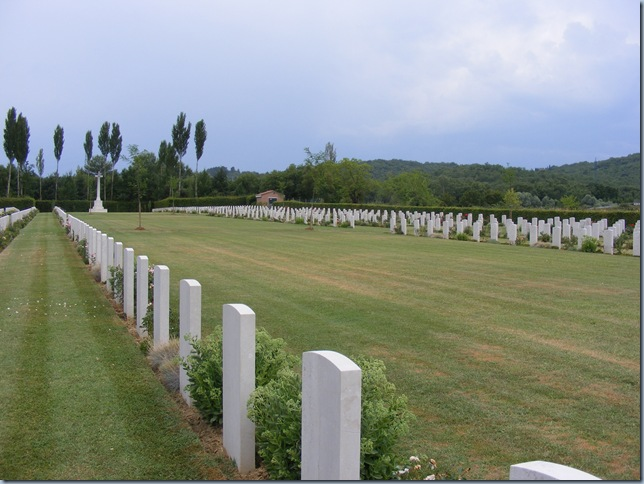 WWII cemetary in arezzo, pork ribs 008